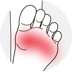 足の指先が痛い
